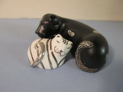 EMILIA CASTILLO Cat & Dog Figurines SALT & PEPPER SHAKERS 017 & 020