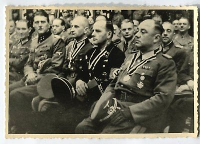 German Wwii Archive Photo: Group Of High Ranked Officers