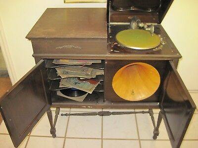 Antique Emerson Phonograph Console - Queen Anne Model - Music Master Horn
