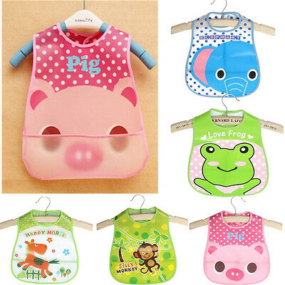 Baby Boy Girl Kids Bibs Waterproof Saliva Towel Cartoon Bib Feeding Bandana GI