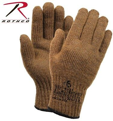 Coyote D-3A Military Wool Nylon Blend Glove Liners - Made in the USA Rothco 8458