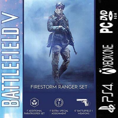 Battlefield I & V  DLC  5x Waffen + Fallschirmjäger-Set PS4 XBOX ONE PC WINDOWS