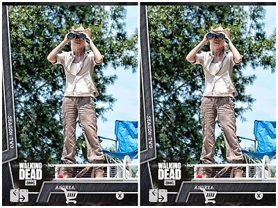2x ANDREA BATTLE READY STEEL #2 WAVE 2 Topps WALKING DEAD DIGITAL Card Trader