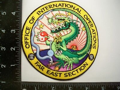 """Federal DEA HQs Intl Ops 5"""" Patch Far East Police Drug Task Force No Repro Gman"""