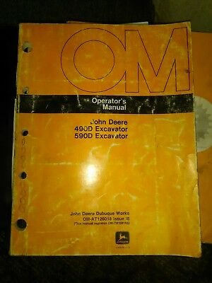 John Deere 490D 590D Hydraulic Excavator Owner Operator User Manual OMAT126018