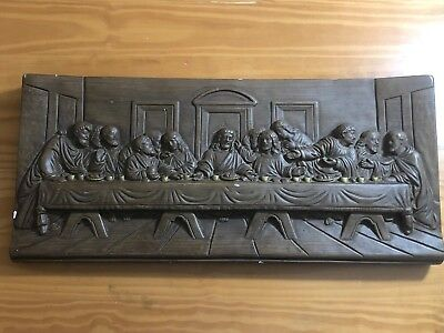 """Columbia Statuary 3D Last Supper Wall Hanging - 22"""" x 10"""""""