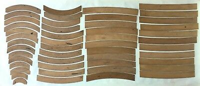 Pearwood Railroad Curves Stanley London Wooden Box of 48 Drafting Engineering