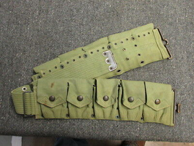 Pre Wwi Us Army M1910 Cartridge Belt-Mills-Eagle Snaps