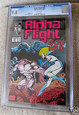Alpha Flight #64 CGC 9.8 Jim Lee Al Milgrom art  1988 Marvel
