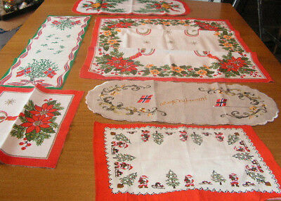 Norway Christmas Linens Lot Of 6 Christmas Linens Table Linens Norway Linens