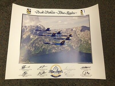 """2016 US NAVY BLUE ANGELS """"70th Anniversary Year"""" 16x20 large LITHO Authentic NEW"""