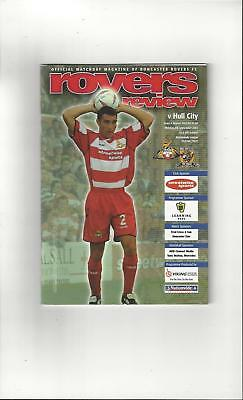 Doncaster Rovers v Hull City Football Programme 2003/04
