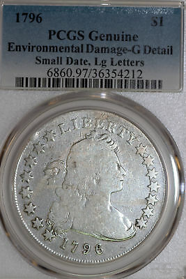 1796 Bust Silver Dollar Small Date, Large Letters PCGS Good Details (36354212)