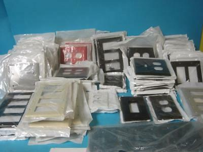 Huge Lot of Brand New Leviton Wall Switch Outlet Cover Faceplate Various Color