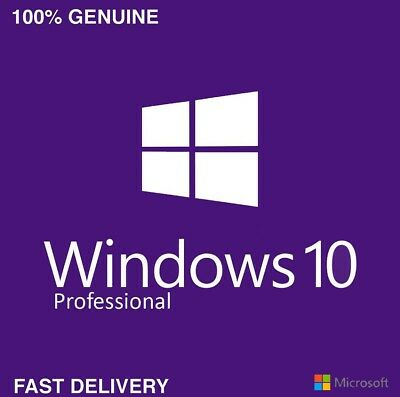 Windows 10 Professional Retail License Key 32/64Bit