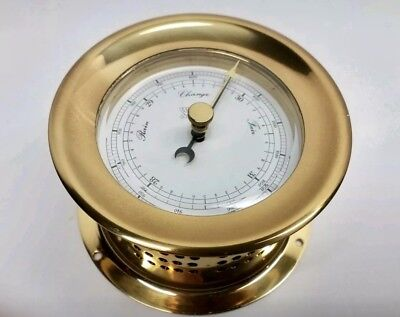 VTG Solid Brass Ship's/Nautical Barometer~WEEPS & PLATH ORION DROP-IN~Germany