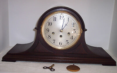 Antique Seth Thomas Westminster mantle clock runs No 113 Movement 5 hammer chime