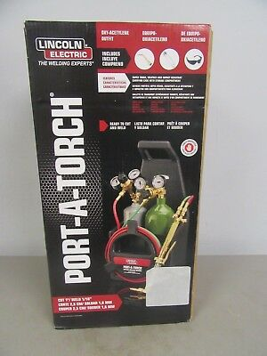 Lincoln Electric KH990 Port-A-Torch Kit Cutting Welding Oxygen Acetylene Tanks
