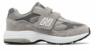 New Balance Kid's 993v1 Hook and Loop Little Kids Unisex Shoes Grey with White