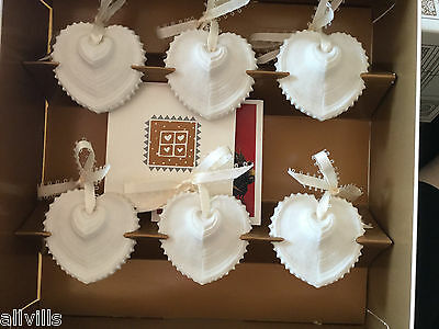 A HANDFUL OF HEARTS #HT-1 BOXED SET OF 6 PIECES Issued 1999 MARGARET FURLONG