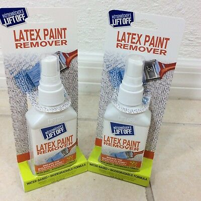 Lot 2 Lift Off Latex Paint Remover Water Based Biodegradable Eco Friendly Home