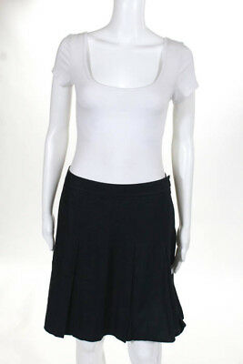 Marc By Marc Jacobs Gray Black Silk Blend Pleated Skirt Size 6