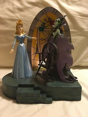 Disney Sleeping Beauty Limited Edition Aurora/Maleficent Figural Scene w/Lights