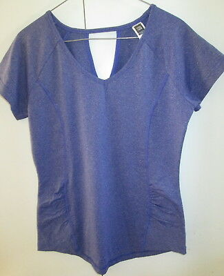 Ladies Active & Co Size 12 Fitness Top Short Sleeve Unlined Purple Tone