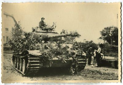 German Wwii Archive Photo: Panzer V Panther Tank