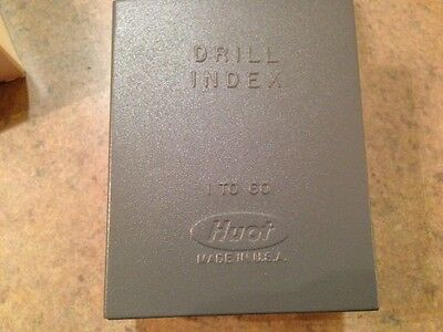 Huot Drill Index #1-60 Wire Size 10600