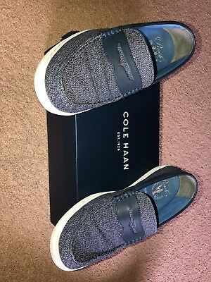 4ba01e53e52 COLE HAAN Pinch WEEKENDER ROAD TRIP MEN S PENNY LOAFER Blue Size 10.5  Leather