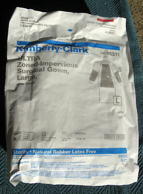 Lot of 5 Kimberly-Clark ULTRA Zoned Impervious Surgical Gowns Large With Towel