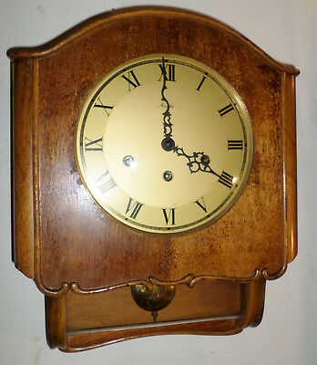 Nice Rare Working Friedrich Mauthe German 8 Day Westminster Chime Wall Clock!