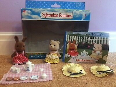 Sylvanian Families RARE Tea Party Set Andromeda & Hollie's Party Complete w.Book