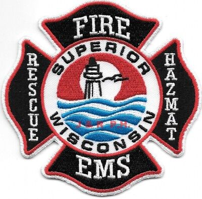 "*NEW*  Superior  Fire - Rescue - HAZMAT - EMS, Wisconsin (4"" x 4"") fire patch"