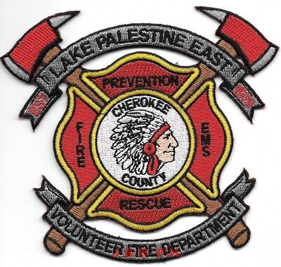 "*NEW*  Lake Palestine East / Cherokee County, Texas (4.5"" x 4"" size) fire patch"
