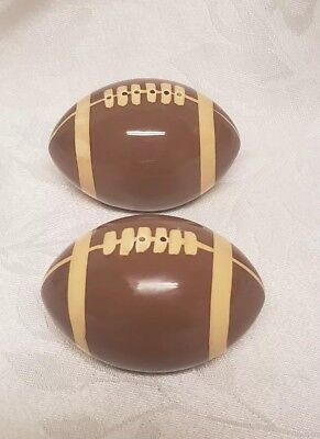 Ceramic Football Salt And Pepper Shakers