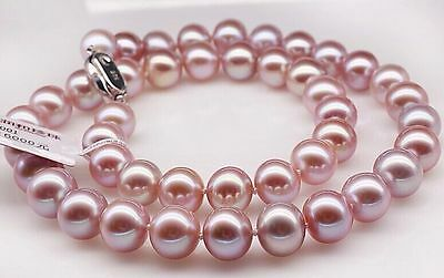 """18""""10-11mm natural south sea pink pearl necklace 14k"""