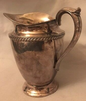 Double Anchor 1717 Kenton Rogers Silver Pitcher Federal Beading Excellent
