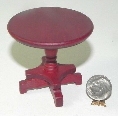 Dollhouse Miniature Mahogany End Table Round 1:12 Scale