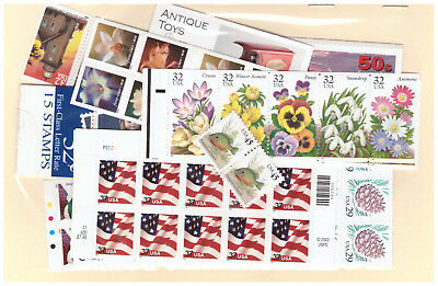 Us $40.00 Face Mint/nh Postage Lot Of 20¢ - 45¢ Values - Mostly Panes / Booklets