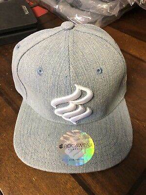 65fbae33ddb25 Rocawear Adjustable Men s Hat Cap New Hip Hop Jay Z Denim Color Blue With  Tags