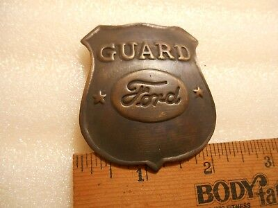 Brass FORD GUARD Badge / Pin