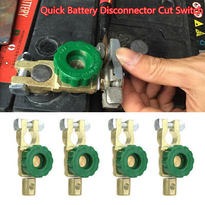 Auto Battery Link Terminal Quick Cut-off Disconnect Master Kill Shut Switch Kit