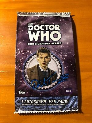 2018 Topps Doctor Who Signature Series Pack 1 Autograph Per Pack