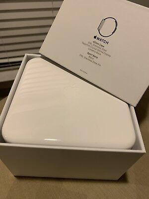Original White Plastic BOX from 42mm Black Sport Band Apple Watch - BOX ONLY