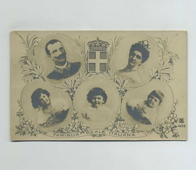 Early RPPC Italy Royal Family Royalty Italian Photo Postcard King Queen wz1106