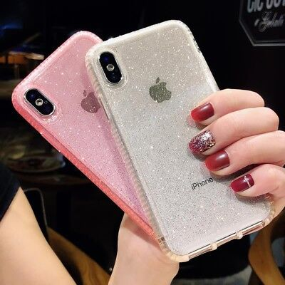 Glitter Luxury Shiny Sparkly Hard Clear Case Cover For iPhone 11 Pro Max XS XR X