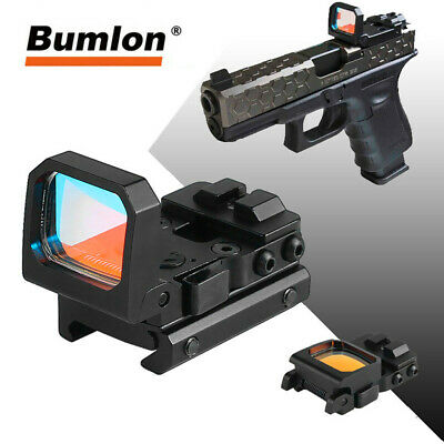 Foldable Red Dot Sight RMR Scope w/ 9 Levels Brightness w/ On/Off Button
