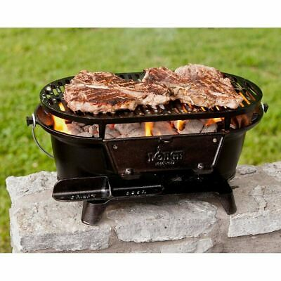 Lodge Pre-Seasoned Cast Iron Grill Stove Outdoor Camping Hibachi Patio Picnic